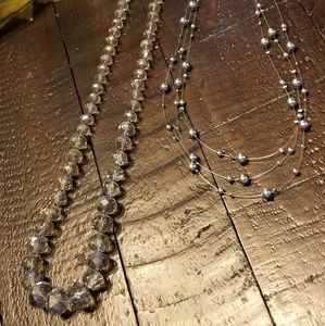 Pair of Silver Necklaces